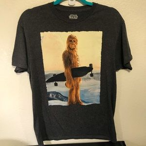 Star Wars Shubacha size Medium grey shirt